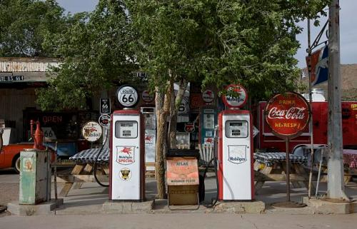 old car gas pumps