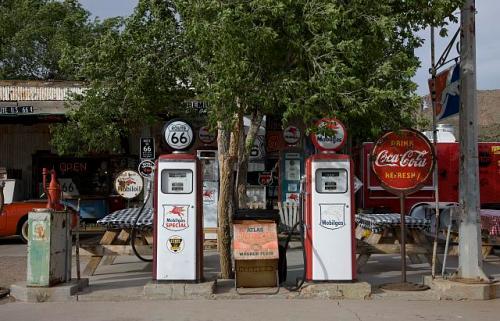 old car gas pumps
