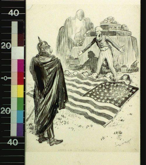 lusitania cartoon with corpses