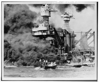 pearl harbor -burning w. virginia