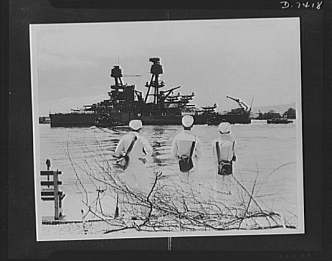 pearl harbor -damaged Nevada