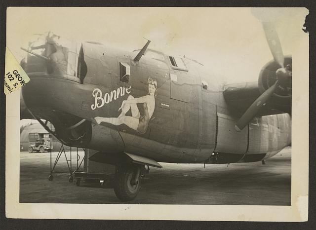 Color World War II B24 Nose Art  Eighth Air Force
