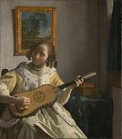 guitar playing woman