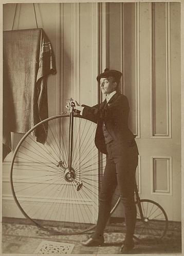 old bike person
