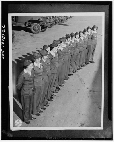 women soldier drivers lined