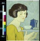 girl with tea
