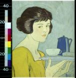 girl with tea