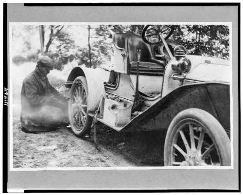 1909 flat tire