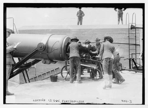 fort hamilton loading 12 in gun 1908