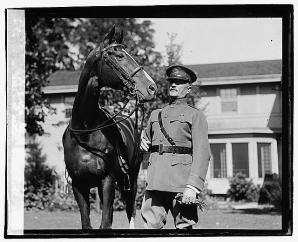 general pershing and horse