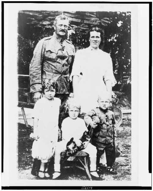 John j pershing and family