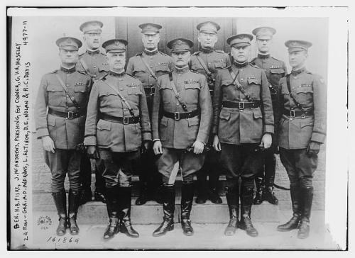 Pershing and other officers
