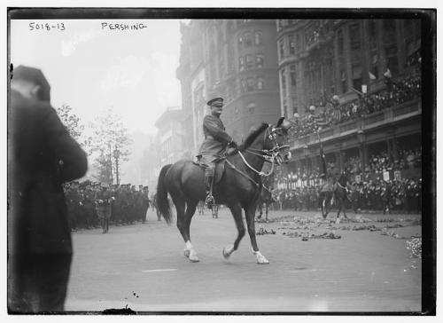 Pershing on horse