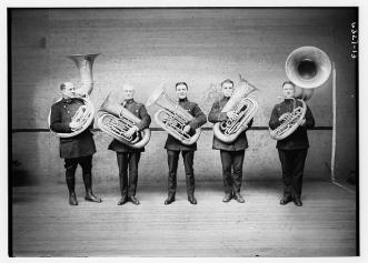 police tuba players