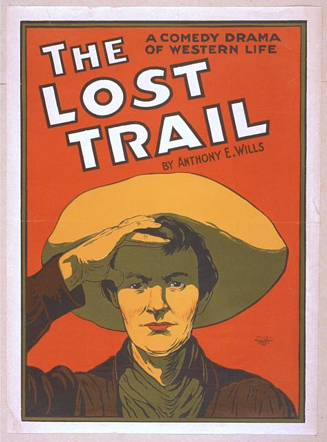 cowboy lost trail poster