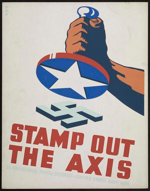 stamp out the axis poster