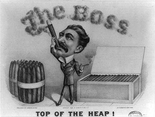 the boss drawing smoking