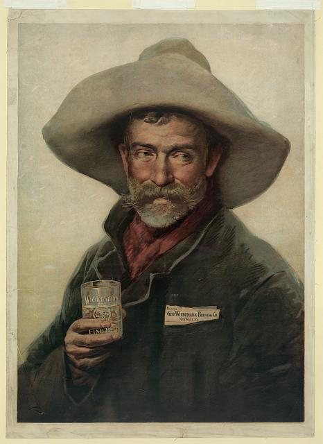 wiedemann beer cowboy poster