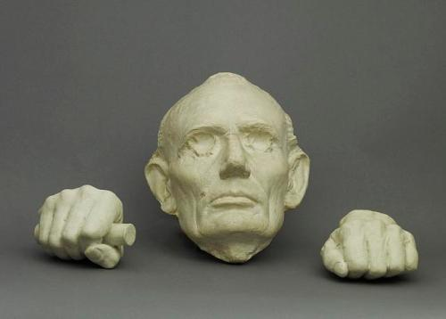 lincoln head and hands