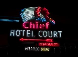 neon chief hotel sign