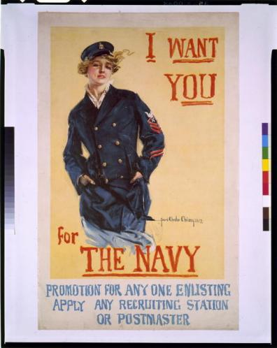 poster navy woman
