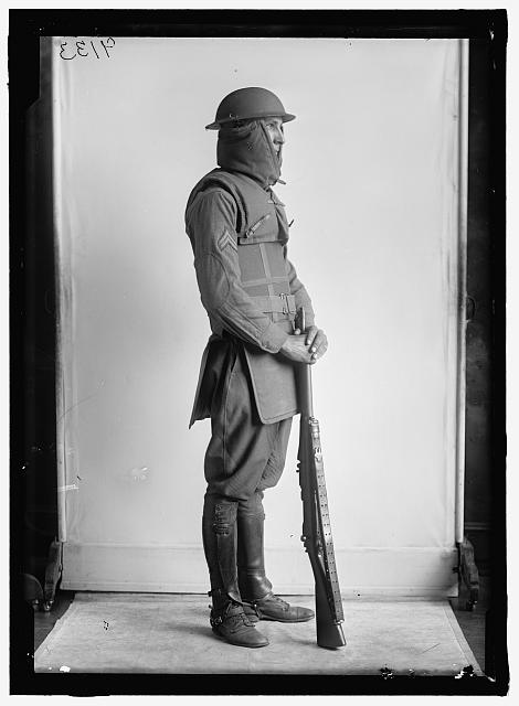 soldier in mod armor WWI