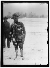 WWI soldier in snow