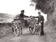 Irish jaunting car and bike