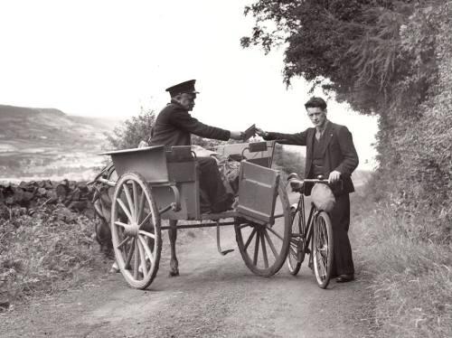 Irish jaunting car and bike