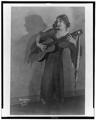 Mary Pickford with guitar