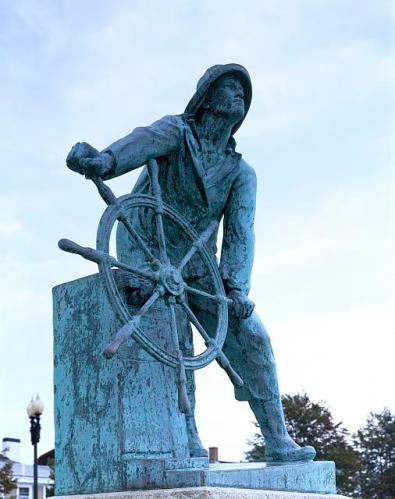 sailor at the helm statue