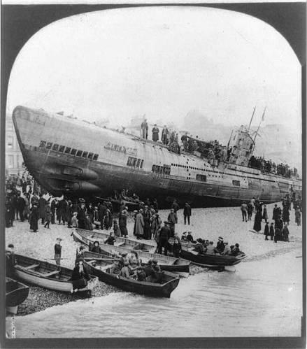 u-boat beached