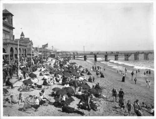 santa monica beach 1900