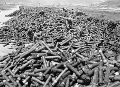 Shell casing pile Korea