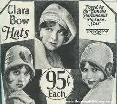 clara bow hat 95 cents