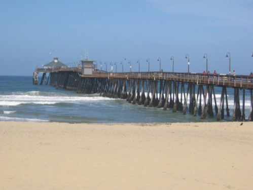 Imperial Beach pier beckons from the sand.