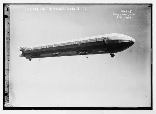 zepplin in flight