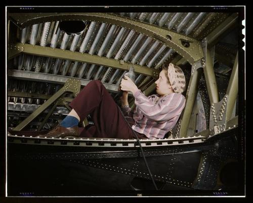 A-20 bomber woman worker