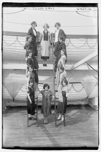 girls on ladder