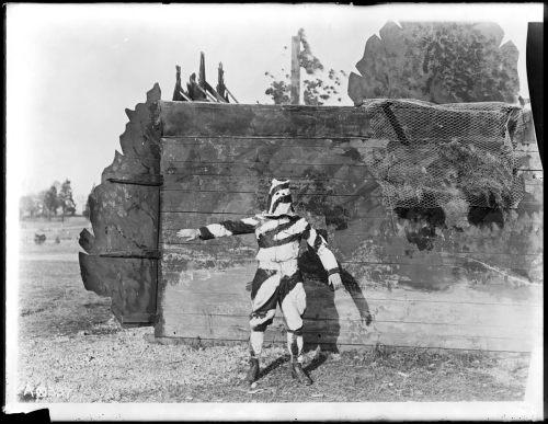 soldier camoflaged 1917 weird