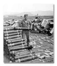 soldier with shells