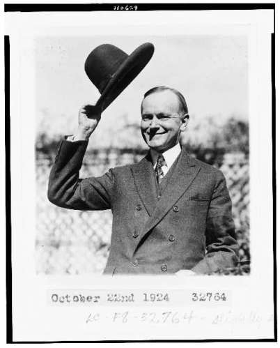 coolidge and hat