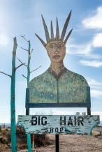 big hair shop sign