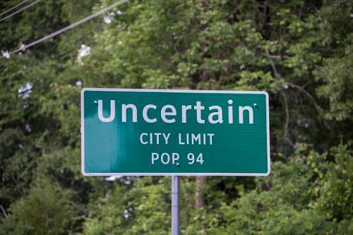 uncertain city sign e. texas