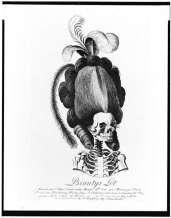 woman hair skeleton caricature