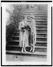 Helen Keller and Mrs. Coolidge