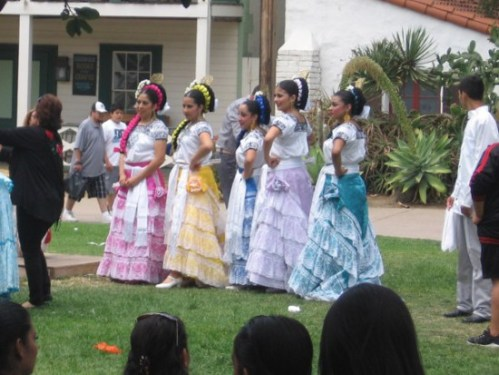 Frilly, flouncy dresses were seen throughout Old Town San Diego State Historic Park.