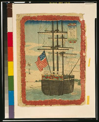 japanese print of Amer. ship