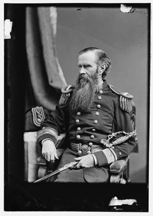 man bearded soldier old