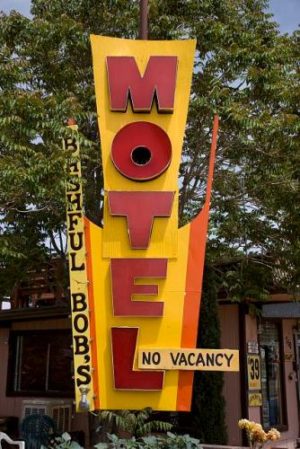 Motel sign in Page, Arizona